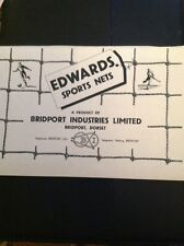 L1-6 Advert 1960 Edwards Sports Nets Bridport Industries Limited