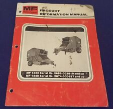 MASSEY FERGUSON MF 1560 & 1440 Product Information Manual