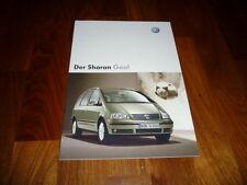 VW Sharan GOAL Prospekt 05/2004