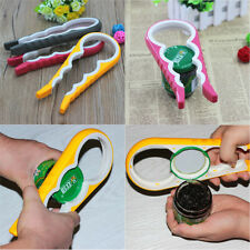 4in1 Functional Container Bottle Jar Lid Can Opener Hand Easy Twist Kitchen Tool