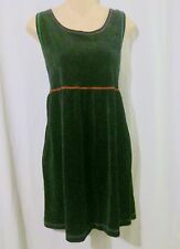 Carole Little Black Velvet Velour Jumper Dress with Accent Stitching Size Small