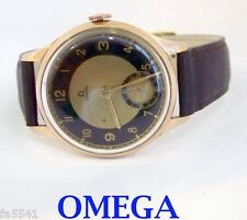 Vintage 14k Rose OMEGA Mens Winding Watch c.1938* 35.5 mm* EXLNT* TESTED