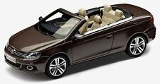 NEW GENUINE VW EOS BLACK OAK BROWN METALLIC 1:43 SCALE DIECAST MODEL CAR
