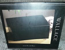 Wallace Dark Walnut Jewelry Box  With Mirror - NIB