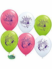 (6)DISNEY FAIRIES TINKERBELL LATEX BALLOONS Princess Birthday Party Favor Supply
