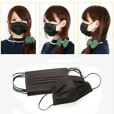 50 Pcs Disposable Medical Dust Mouth Surgical Face Mask Respirator Black