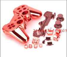 Red Chrome Plating Housing Shell Case Cover Part for PS3 Controller Dualshock 3