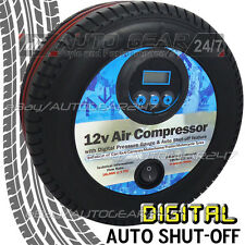 12v Car Tyre Shape Mini Digital Display Air Pump Compressor Inflator swac15