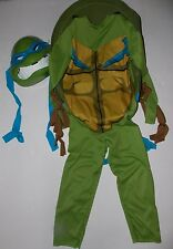 TMNT Teenage Mutant Ninja Turtles Leonardo Halloween Costume 4-6 Shell Mask