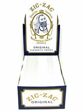 Zig Zag Cigarette Rolling Papers 24 Packs/Box/ 32 Papers Per Pack- Single Wide