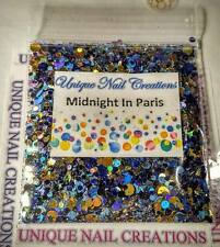 Limited Edition Glitter Mix~MIDNIGHT IN PARIS* Comes With Alloy~ Nail Art
