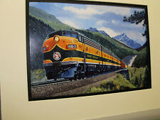 Great Northern Diesel traveling Glacier Park artist Railroad Archives Museum
