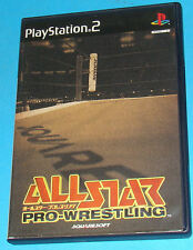 All Star Pro Wrestling - Sony Playstation 2 PS2 Japan - JAP
