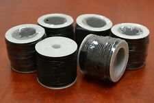 10 ROLLS - 100 METERS BLACK LEATHER BEADING CORD STRING ROLL 2MM #F-47G