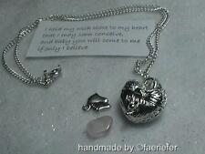 Wish to conceive a baby fertility necklace and poem/gem heart locket baby feet