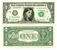 NATALIE PORTMAN - VRAI BILLET de 1 DOLLAR US ! Collection Actrice Hollywood Film