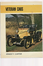 VETERAN CARS - ERNEST CARTER includes listings of car makers   ei