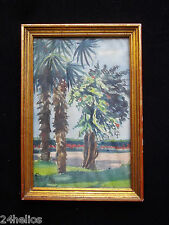 PUGNET H. Aquarelle ancienne - Salon de l'école Française 1927 Peinture/Tableau
