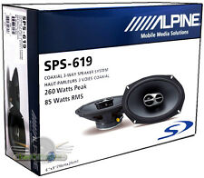"ALPINE SPS-619 TYPE S 6""X9"" COAXIAL CAR SPEAKERS 3-WAY SPS619 NEW 6X9"" SPEAKERS"