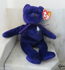RARE MINT W/ TAGS PRINCESS DIANA Ty BEANIE BABY BEAR 1997 P.E. PELLETS CHINA