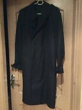 ST MICHAEL M&S Ladies NAVY BLUE TRENCH COAT MAC BELTED 18/20 ? PIT to PIT 24""