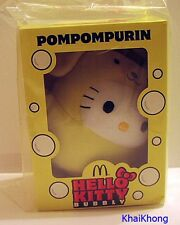 NEW HELLO KITTY MCDONALD THAILAND PROMO SANRIO POMPOMPURIN BUBBLY Plush DOLL 6""
