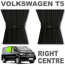 VW T5 Curtain Kit - BLACK - Right Centre VWT5 Campervan Curtains