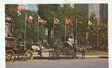 BF26836 montreal quebec canada caleches dominion square  front/back image