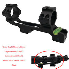 Double Ring Bubble Level 30mm Rifle Scope Mount  Fits Picatinny Rail Cantilever