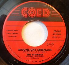 The Rivieras . Moonlight Serenade / Neither Rain Nor Snow 1959. 45 rpm. LISTEN