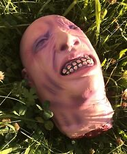 Halloween Severed Head Decoration Hanging or Table Prop Bloody Gory Latex Zombie