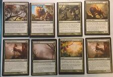 Lot de 8 cartes M13 Vertes MISPRINT - MISCUT Off-center - 8 cards - Mtg Magic