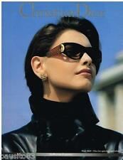 PUBLICITE ADVERTISING 095  1992  DIOR  collection lunettes solaires