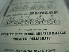 ephemera 1958 advert track on tour dunlop track on tour work or play