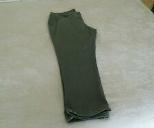 Dorothy perkins light weight light khaki cotton trousers with turn ups size 18