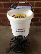 1 x Grit Guard Car Wash Bucket & Shield, with Autosmart labels 20 Litre Valeting