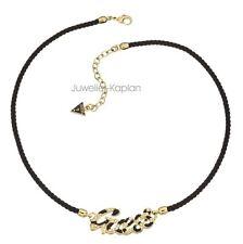 Guess Damen Halskette Collier Schmuck vergoldet GEUSS Logo UBN71206 neu