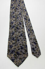 Ties To Nature ORCHIDS 100% Silk Tie Floral Print Grey Purple Olive