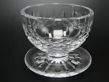 "Waterford Cut Glass ""Lismore"" Footed Dessert Bowls Clear Crystal"