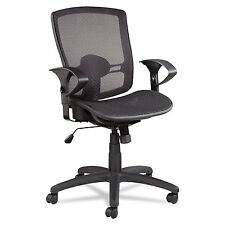 Etros Series Suspension Mesh Mid-Back Synchro Tilt Chair, Mesh Back/Seat, Black