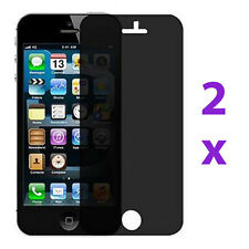 2 Privacy Anti-Spy LCD Screen Protector Guard Shield Film For Apple iPhone 5 5G