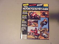 1996 MOTORCYCLE BUYERS GUIDE BY MOTORCYCLIST,DIRT RIDER,SPORT RIDER MAGAZINE,