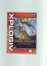 GABRIEL KNIGHT 3 BLOOD OF THE SACRED, BLOOD OF THE DAMNED - PC GAME COMPLETE VGC