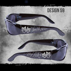 SMILE NOW CRY LATER CITY LOCS SUNGLASSES BLACK CHOPPERS CHICANO RAP SHADES NWT