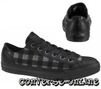 Womens Boys Mens CONVERSE All Star BLACK PLAID WOOL OX Trainers Shoes SIZE UK 5