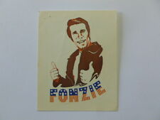 VECCHIO ADESIVO ORIGINALE / Old Sticker FONZIE HAPPY DAYS (cm 6 x 9)