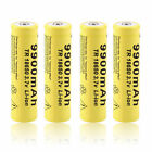 4pcs 3.7V 18650 9900mah Li-ion Rechargeable Battery For LED Flashlight Torch MS
