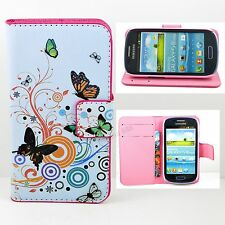 Women Men Flip Stand Card Leather Pouch Cover Case For Samsung Galaxy S4 S5 S3