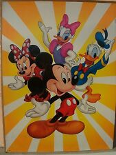 """Disney Mickey Minnie Mouse Donald Daisy Duck 18"""" by 24"""" new poster vintage"""