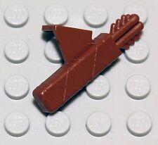 NEW Lego - Castle Figure Accessory - Reddish Brown Arrow Quiver - Knight Bow